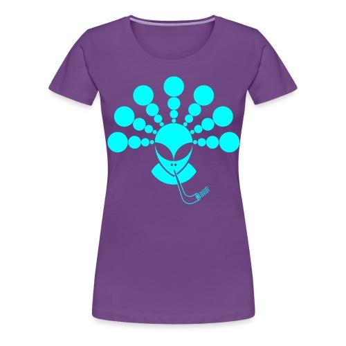 The Smoking Alien Light Blue - Women's Premium T-Shirt