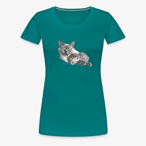 Snow and her baby - Women's Premium T-Shirt