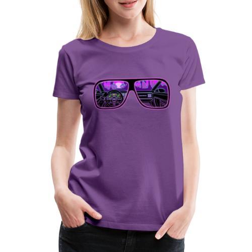 RETROVISION - Naisten premium t-paita