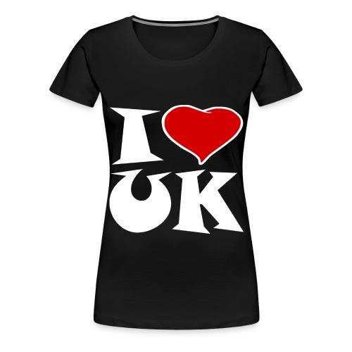 England - Ich Liebe UK - Frauen Premium T-Shirt