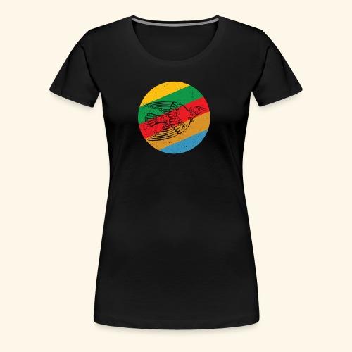 Grenadian Dove Retro - Women's Premium T-Shirt