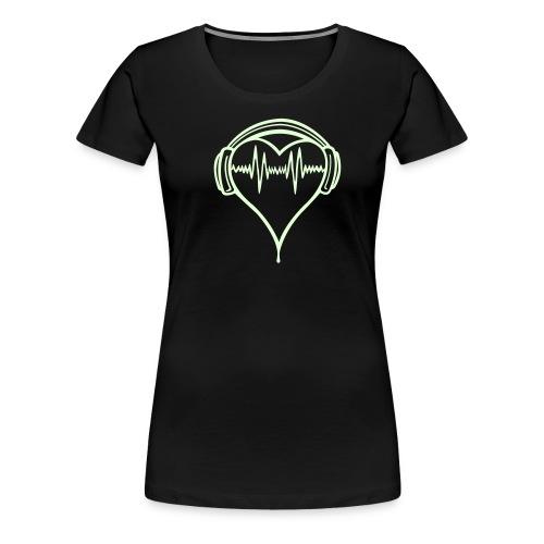 Heart headphones 2 - Women's Premium T-Shirt