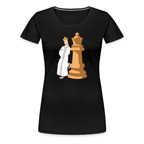 Samurai with Queen - Women's Premium T-Shirt