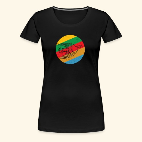 Grenadian Dove Retro - Women's Premium T-Shirt