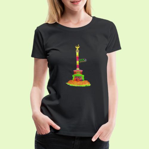 Siegessäule / BerlinLightShow / PopArt - Frauen Premium T-Shirt