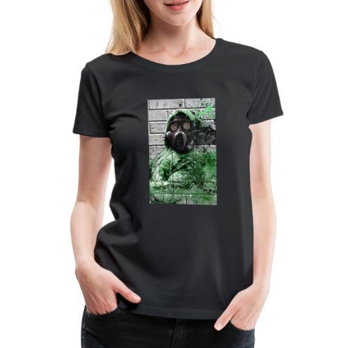 GasMask 01 - Frauen Premium T-Shirt