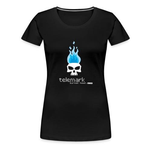 T burnheadBlue 1 - T-shirt Premium Femme
