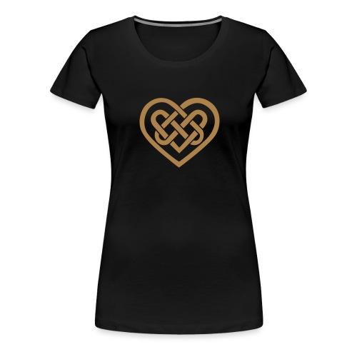 Keltisches Herz Symbol Unendlichkeit Ewige Liebe - Frauen Premium T-Shirt