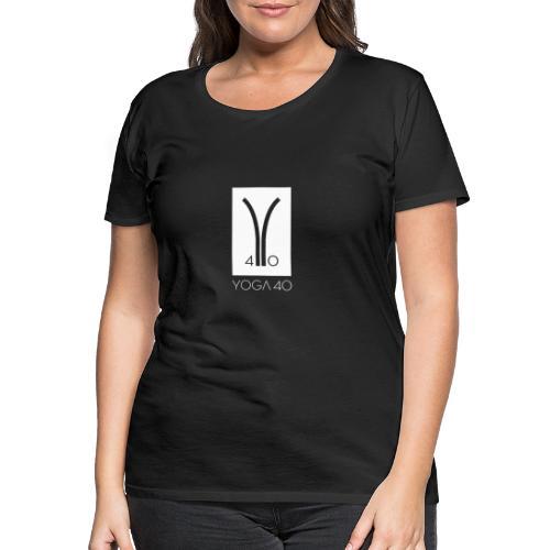 Y40 logotipo blanco - Camiseta premium mujer