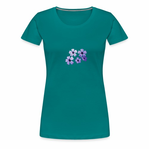 Blumen blau - Frauen Premium T-Shirt