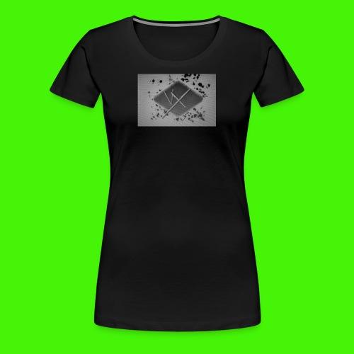 white,gray and black vX logo - Women's Premium T-Shirt