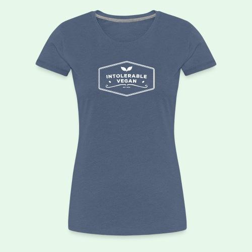 Intolerable Vegan Logo - White - Premium-T-shirt dam