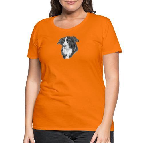 border collie 1 - Dame premium T-shirt
