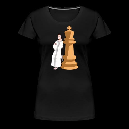 Samurai with King - Women's Premium T-Shirt