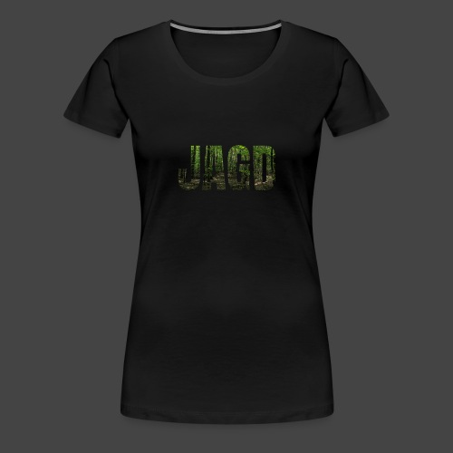 JAGD-Shirt für Jäger/innen, Motiv Wald - Frauen Premium T-Shirt