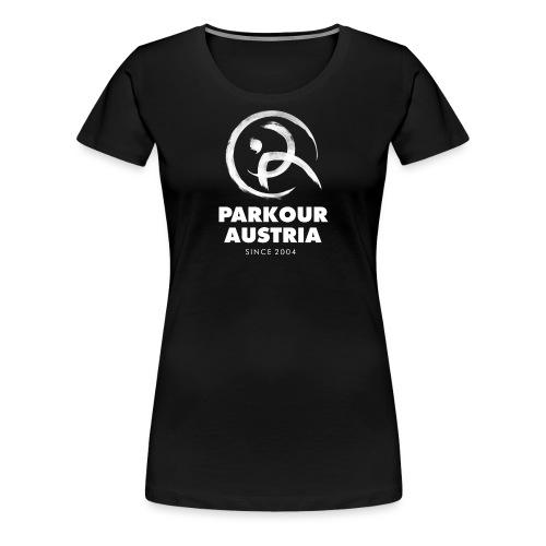 Parkour Austria (Logo & Schriftzug weiss) - Frauen Premium T-Shirt