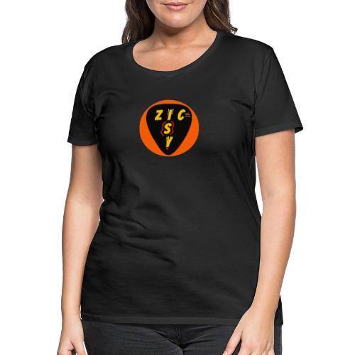 Zic izy rond orange - T-shirt Premium Femme