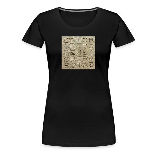 Quadrato Sator - Maglietta Premium da donna