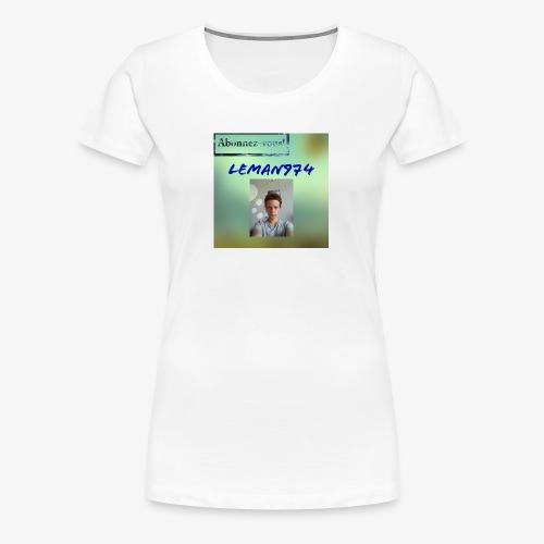 Leman974 logo - T-shirt Premium Femme