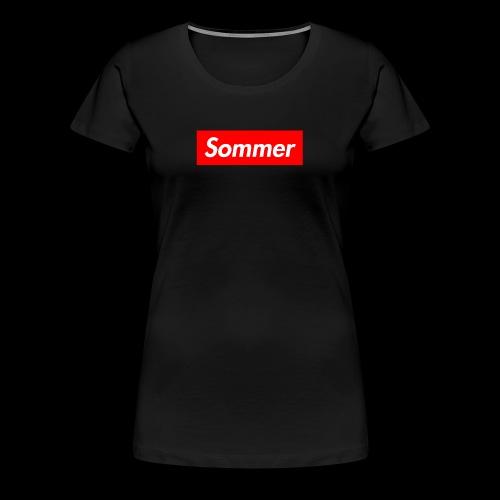 Sommer Logo - Premium T-skjorte for kvinner
