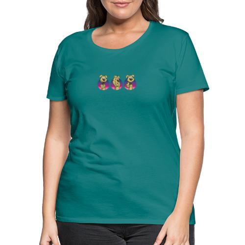 """Comic Hund in Gebärdensprache """"I love you"""" - Frauen Premium T-Shirt"""