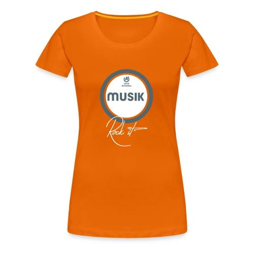 MUSIK ST Shirt png - Frauen Premium T-Shirt