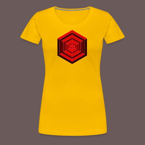 Hexagon Cube - Dame premium T-shirt