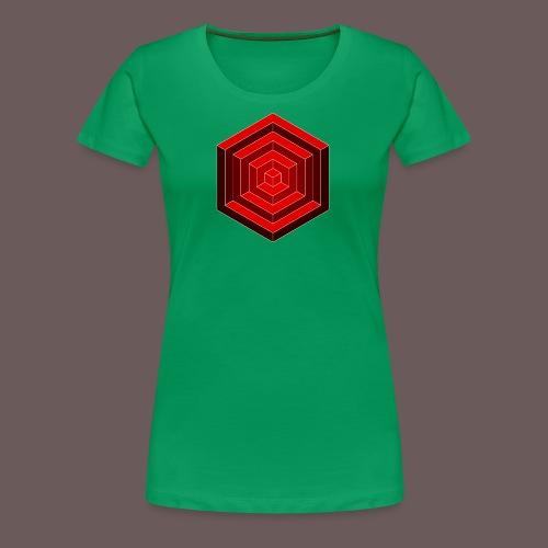 Hexagon Cube - Dame premium T-shirt