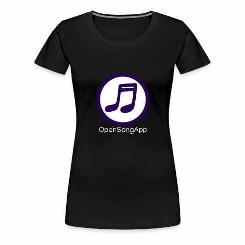 OpenSongApp Round Text - Women's Premium T-Shirt