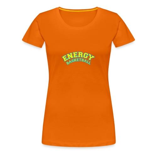 street wear logo giallo energy basketball - Maglietta Premium da donna