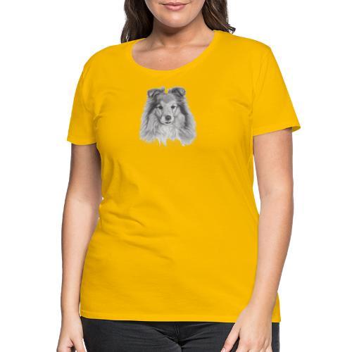shetland sheepdog sheltie - Dame premium T-shirt