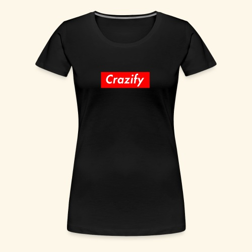 Crazify Red & White - Women's Premium T-Shirt