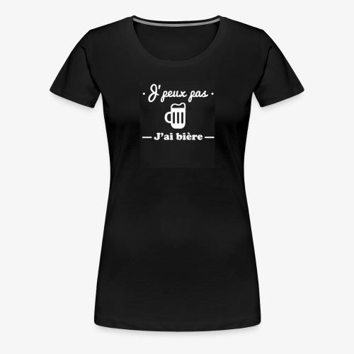 Tricot bière - T-shirt Premium Femme