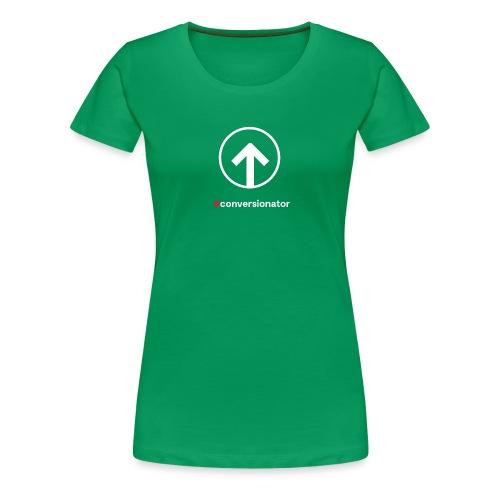 Conversionator mit Pfeil (weiß) - Frauen Premium T-Shirt