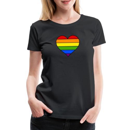 Rainbow Heart - Vrouwen Premium T-shirt