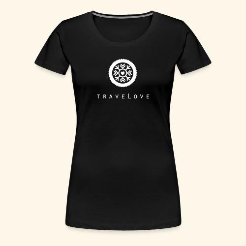 traveLove weißer Aufdruck - Frauen Premium T-Shirt