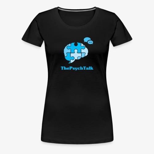 The Psych Talk Logo - Jigsaw Brain - Women's Premium T-Shirt