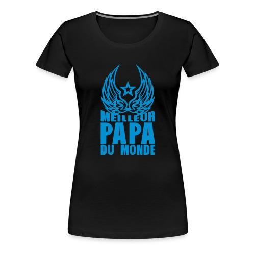 meilleur papa du monde aile etoile logo - T-shirt Premium Femme