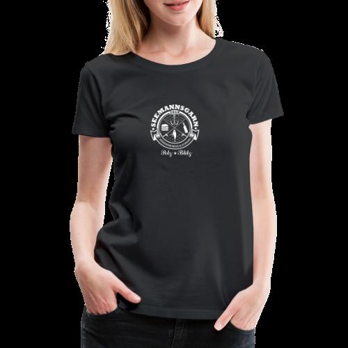 geweihbär Seemannsgarn 3 weiss - Frauen Premium T-Shirt
