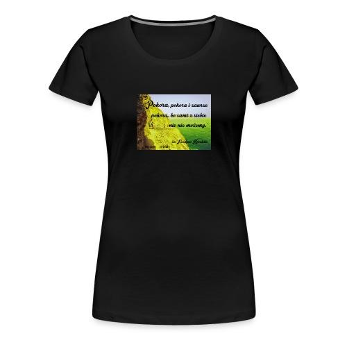 CYTATY FAUSTYNA KOWALSKA - Koszulka damska Premium