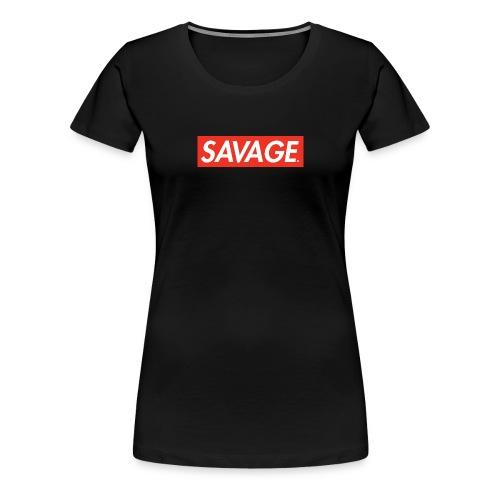 Savage. RedBox - Premium T-skjorte for kvinner