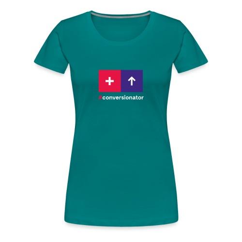 Conversionator mit Plus & Pfeil - Frauen Premium T-Shirt