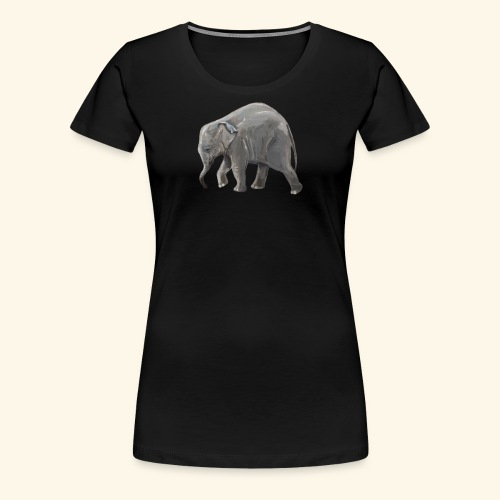Baby elephant on a Mission - Women's Premium T-Shirt
