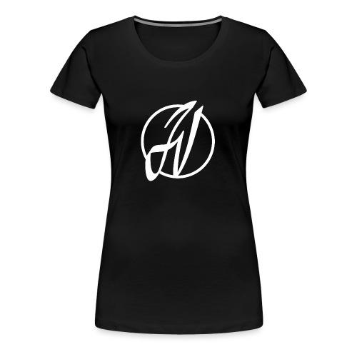 JV Guitars - logo blanc - T-shirt Premium Femme