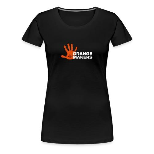 Orange Maker (Hvid tekst) - Dame premium T-shirt