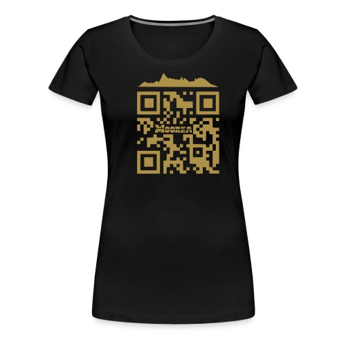 moorea qr code skyline - T-shirt Premium Femme