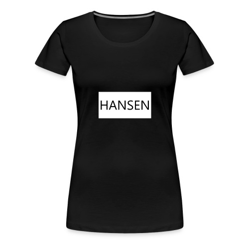 HANSENLOGO hvid - Dame premium T-shirt