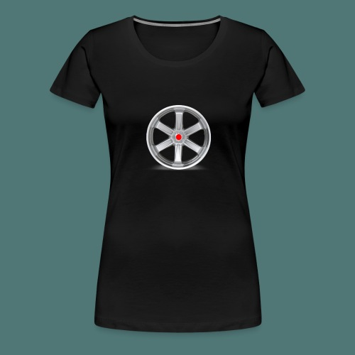 Fälg Silver - Premium-T-shirt dam