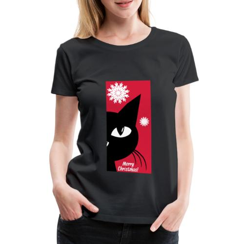 Xmas cat - Frauen Premium T-Shirt