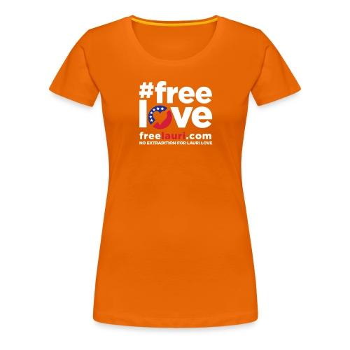 freeloveblack01 - Women's Premium T-Shirt